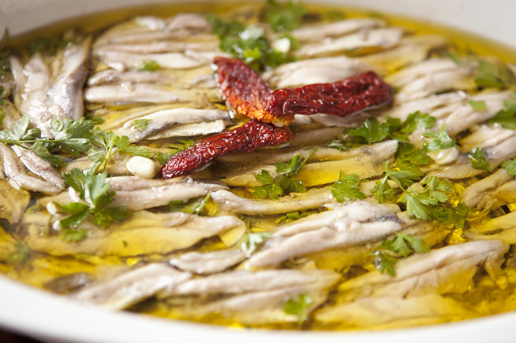 alici marinate / marinated anchovies