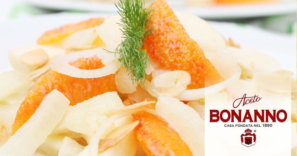 insalata-di-finocchi e arance coon aceto bonanno siciliano ricetta tipica